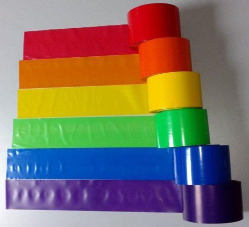 Absperrband Regenbogenfahne Farben