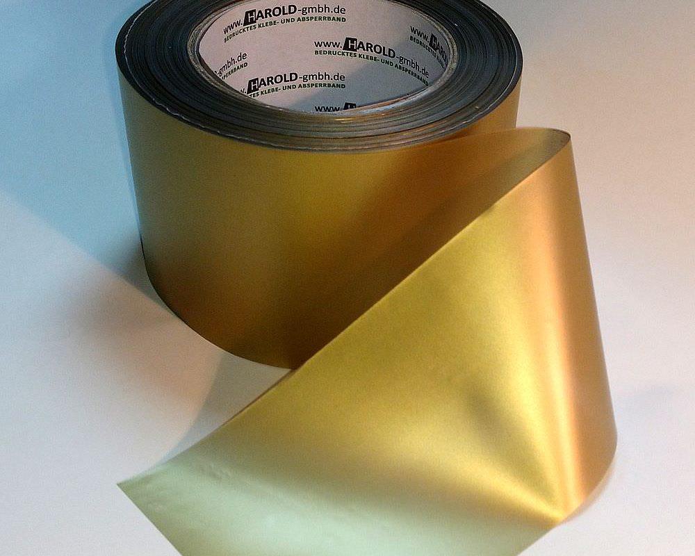 Absperrband gold
