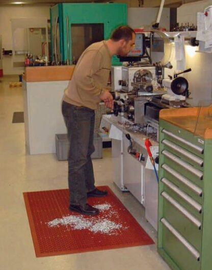 Gummilochmatte Nitril-Kauschuk Arbeitsplatzmatte