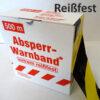 PE-Absperrband Reißfest 80-500 gelb-schwarz