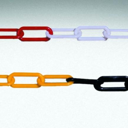 Stahlkette Gliederkette rot-weiß gelb-schwarz