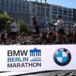 bedrucktes Absperrband Sportveranstaltung Berlin-Marathon BMW