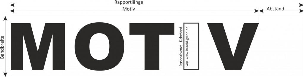 Druckvorlage Rapport bedrucktes Klebeband, bedrucktes Absperrband