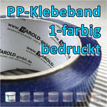 bedrucktes PP-Klebeband 1-farbig