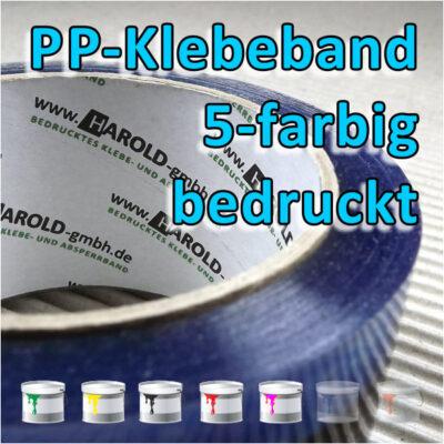 bedrucktes PP-Klebeband 5-farbig