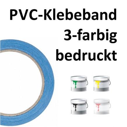 PVC-Klebeband 3-farbig bedruckt
