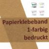 bedrucktes Papierklebeband 1-farbig bedruckt