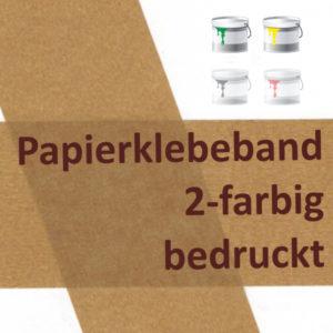 bedrucktes Papierklebeband 2-farbig bedruckt