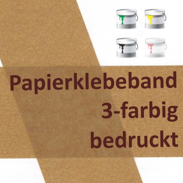 bedrucktes Papierklebeband 3-farbig bedruckt