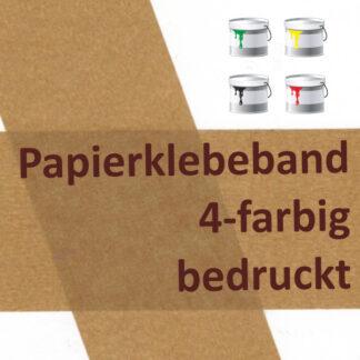bedrucktes Papierklebeband 4-farbig bedruckt
