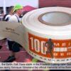 Bedrucktes Absperrband Sportveranstaltung open air Mauerweglauf 100 Meilen Berlin Sponsoring
