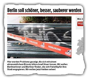 Absperrband bedruckt berliner helden
