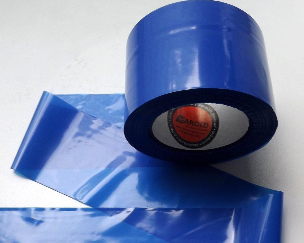 Flatterband blau