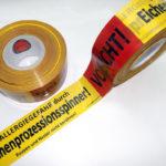 Eichenprozessionsspinner Absperrband Warnband Warnhinweis