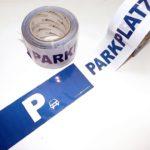 Absperrband Parkplatz Hinweisband Kennzeichnung Motiv PARKPLATZ Parken