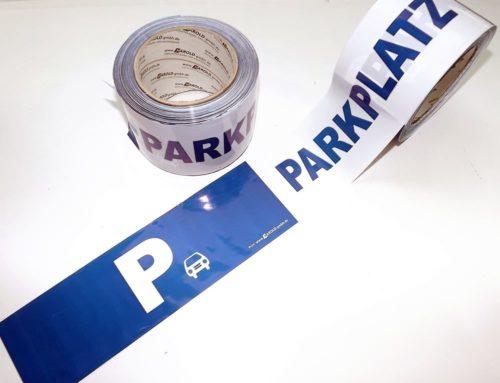 Absperrband Hinweisband Kennzeichnung  Motiv PARKPLATZ Parken