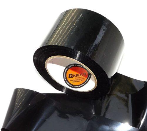 Absperrband schwarz neutral 75 100