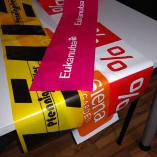 Tischläufer PE, www.harold-gmbh.de / Bedrucktes Absperrband, bedrucktes Klebeband