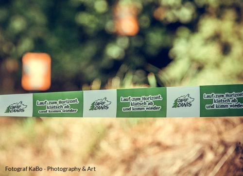 Absperrband CampCanis Flatterband bedruckt Outdoor mit UV-Schutz