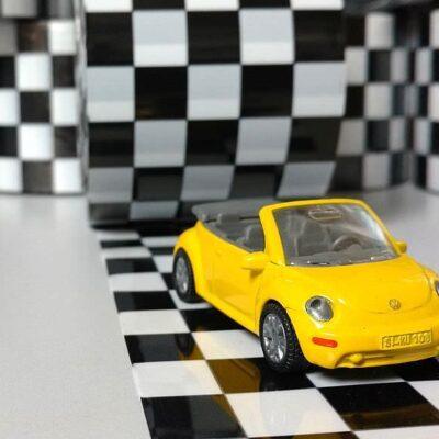 Flatterband schwarz-weiss-kariert-Rallye-Rennen-Sport