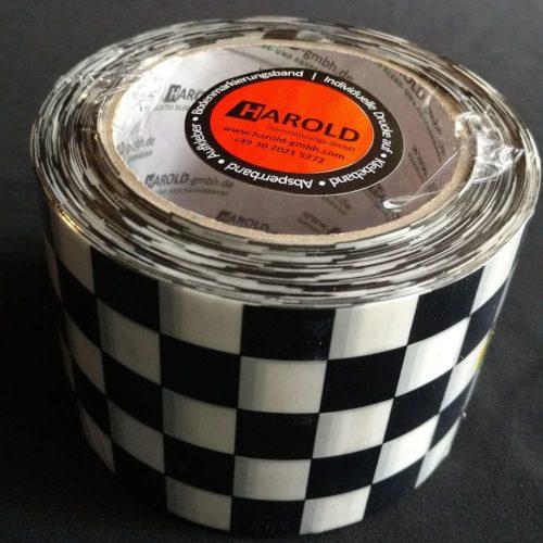 Absperrband schwarz-weiß Rallye Race Harold