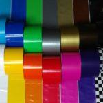 Buntes Absperrband Dekoband farbig
