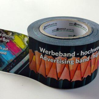 Bedrucktes Absperrband Digitaldruck Fotodruck 4C 4/0