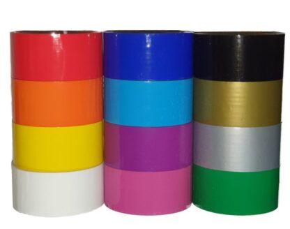 PP Klebeband bunt farbig einfarbig weiß/ gelb/ orange/ rot/ pink/ grün/ hellblau/ blau/ violett/ gold/ silber/ schwarz