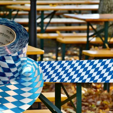 Absperrband Bayern weiss-blau Bayernraute Bavaria