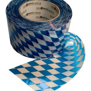 Flatterband weiss-blau