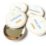 Bedruckter Stoffbutton – Button mit Stoffdruck
