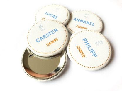 Bedruckter Stoffbutton - Button mit Stoffdruck