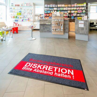Bedruckte Logomatte Werbematte www.harold-shop.de