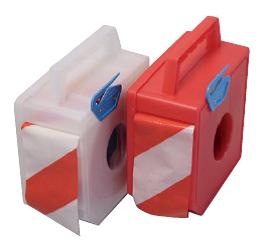 Abrollboxen Abrollbox Spenderbox Absperrband
