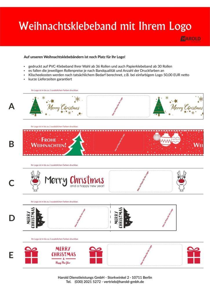 Klebeband Weihnachten Xmas Weihnachtsmotiv Motiv