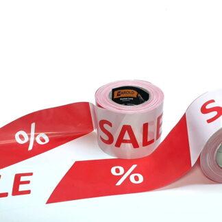 Absperrband SALE Werbeband Warnband Sale % Harold