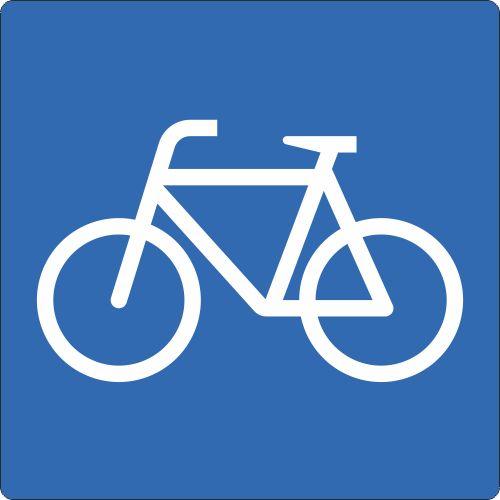 Bodenschild Outdoor Fahrrad WT-5415 blau