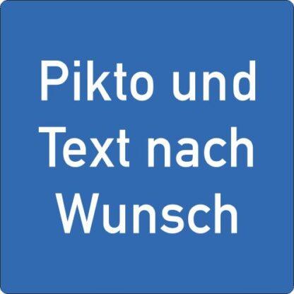 Bodenschilder Outdoor Wunsch WT-5415 blau