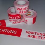 Absperrband Warnband Achtung Wartungsarbeiten