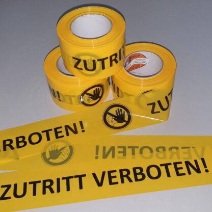 Absperrband Warnband Zutritt verboten