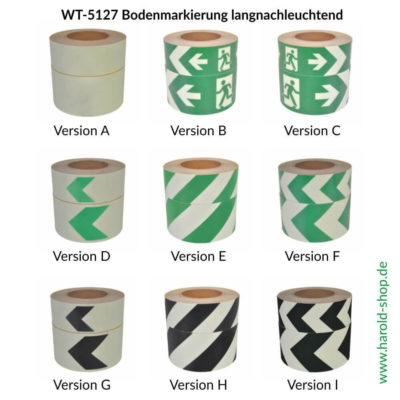 WT-5127 Bodenmarkierung langnachleuchtend