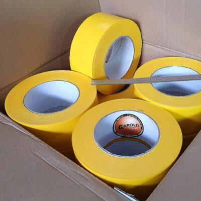 Absperrband gelb 50mm x 100m