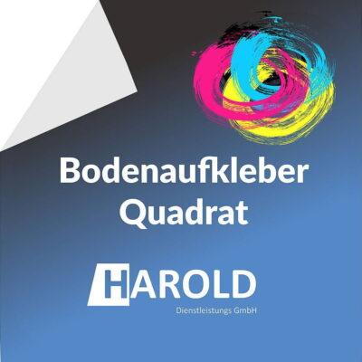 Bodenaufkleber Quadrat Harold
